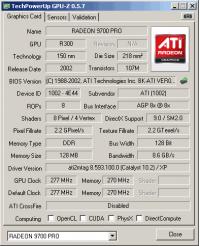 Radeon 9500 PRO GPUZ