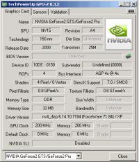 GeForce2 Pro GPUZ