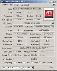 Radeon 9600 GPUZ