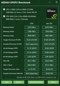 AIDA64 GPGPU benchmark